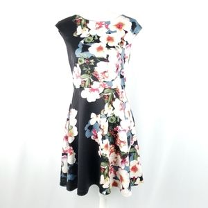 Heidi Weisel Floral Fit and Flare Dress Size 8